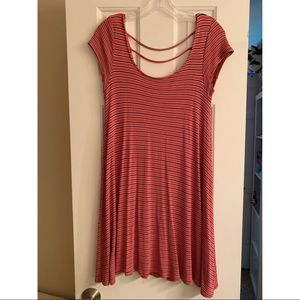 American Eagle striped dress with nice back detail